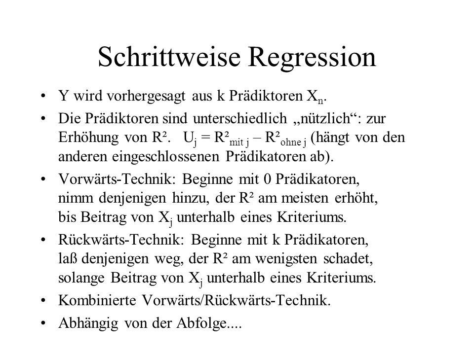 Schrittweise Regression
