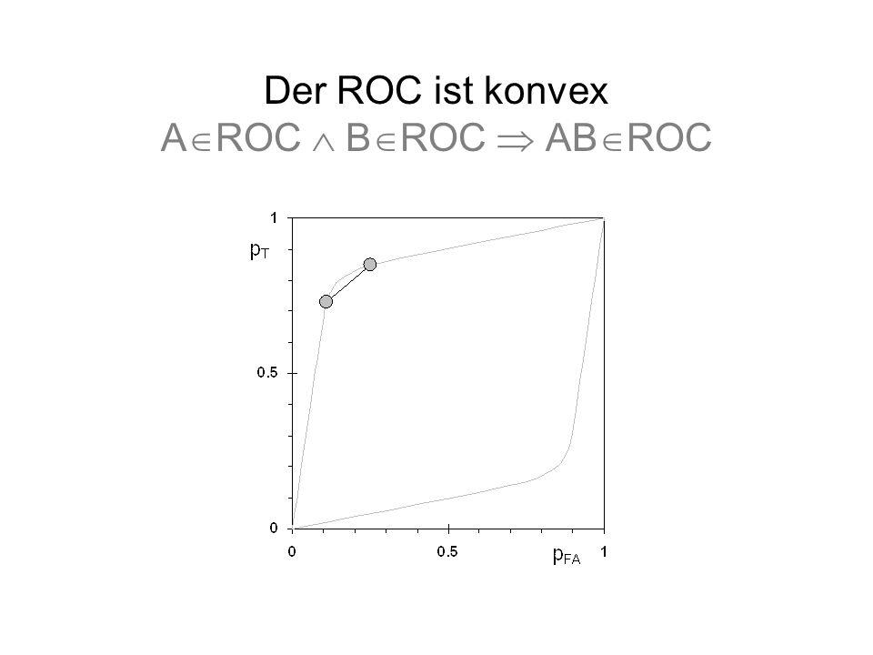 Der ROC ist konvex AROC  BROC  ABROC