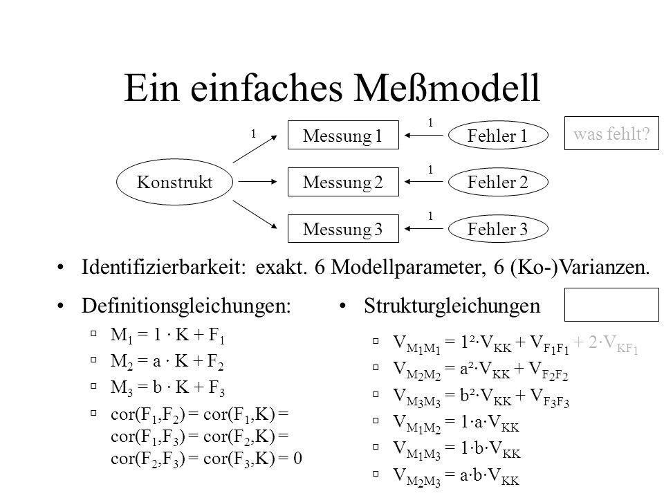 Ein einfaches Meßmodell