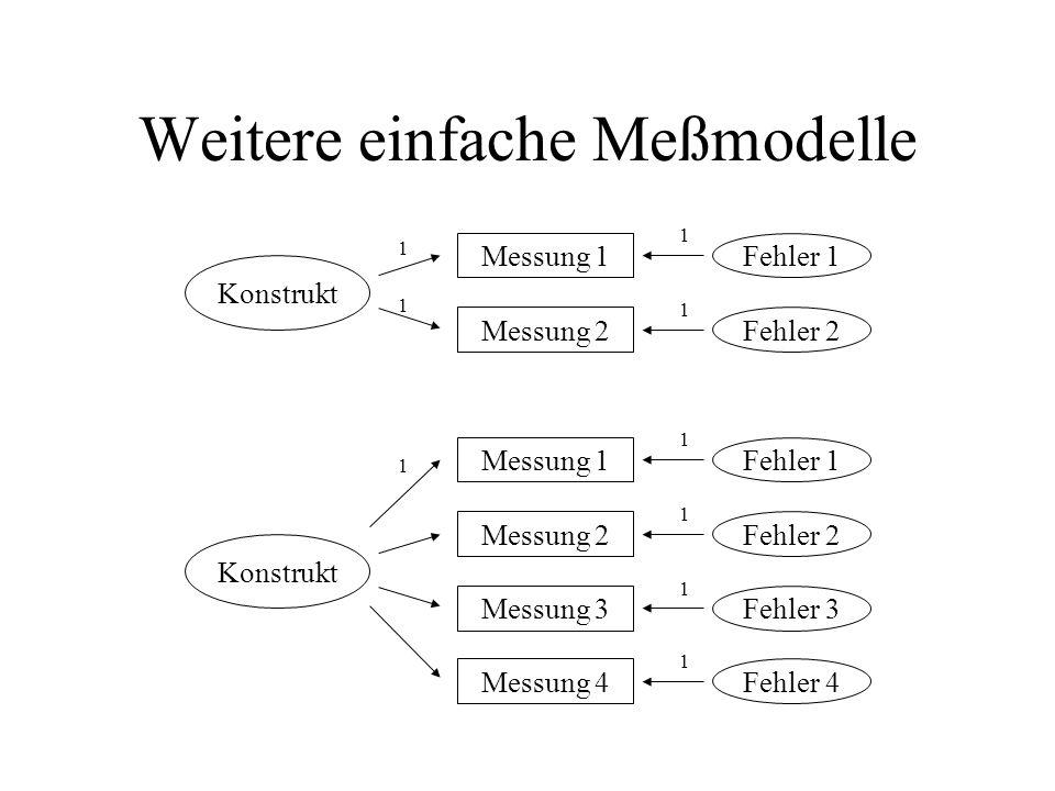 Weitere einfache Meßmodelle
