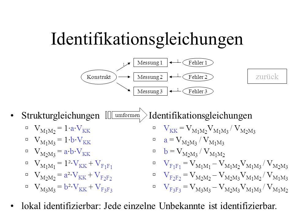 Identifikationsgleichungen