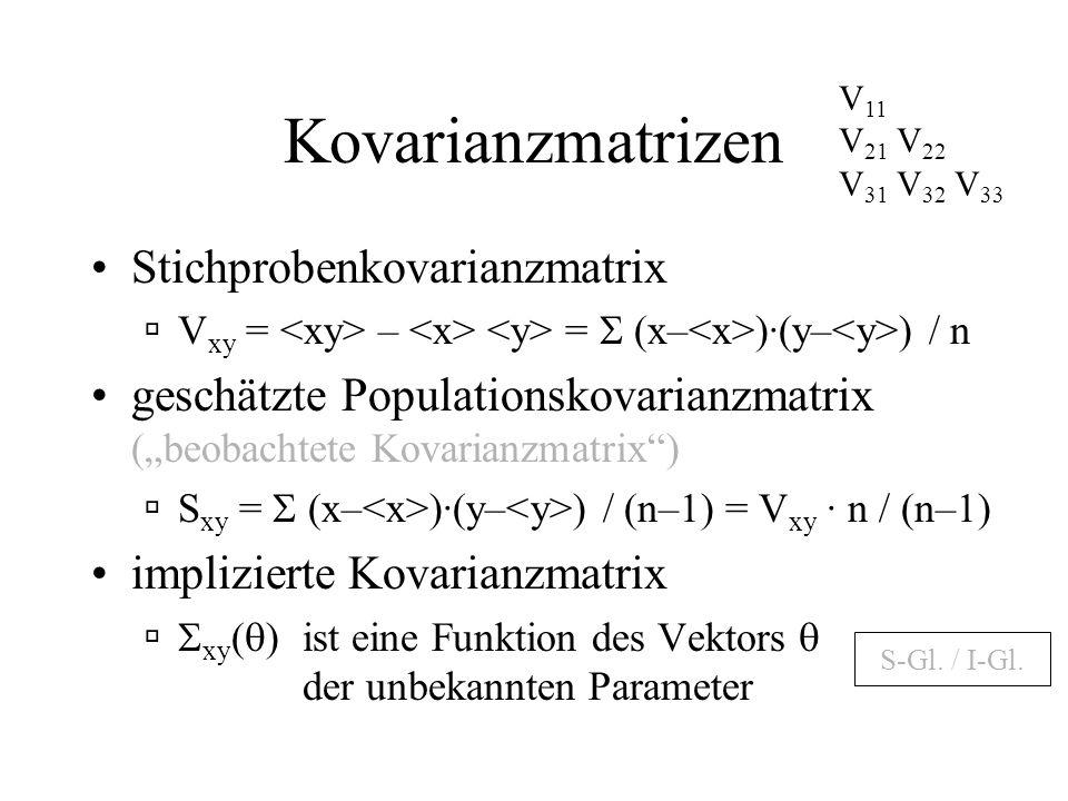 Kovarianzmatrizen Stichprobenkovarianzmatrix