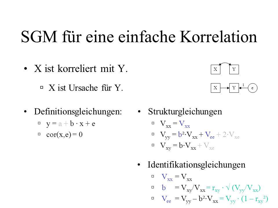 SGM für eine einfache Korrelation
