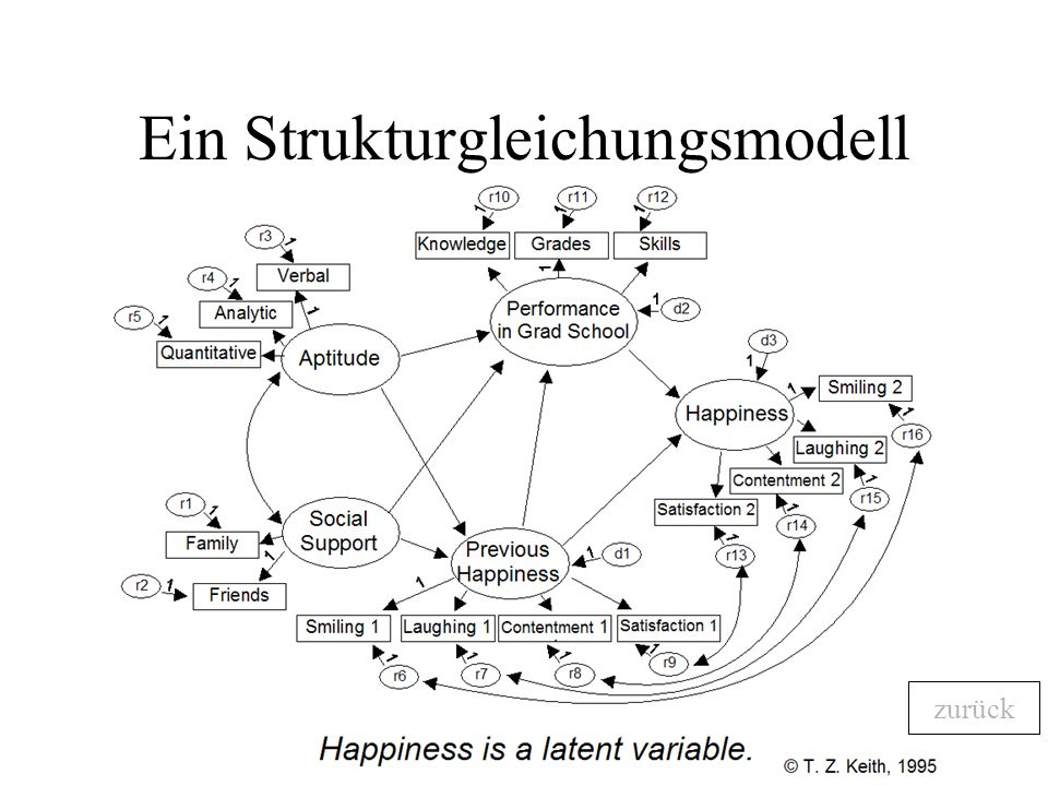 Ein Strukturgleichungsmodell