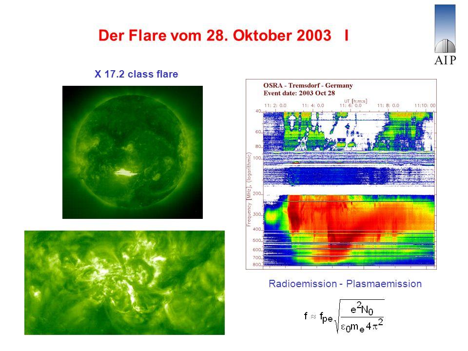 Der Flare vom 28. Oktober 2003 I X 17.2 class flare