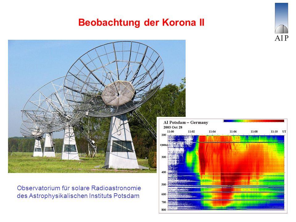 Beobachtung der Korona II