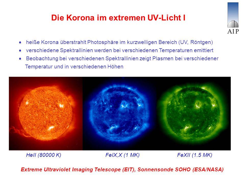 Die Korona im extremen UV-Licht I