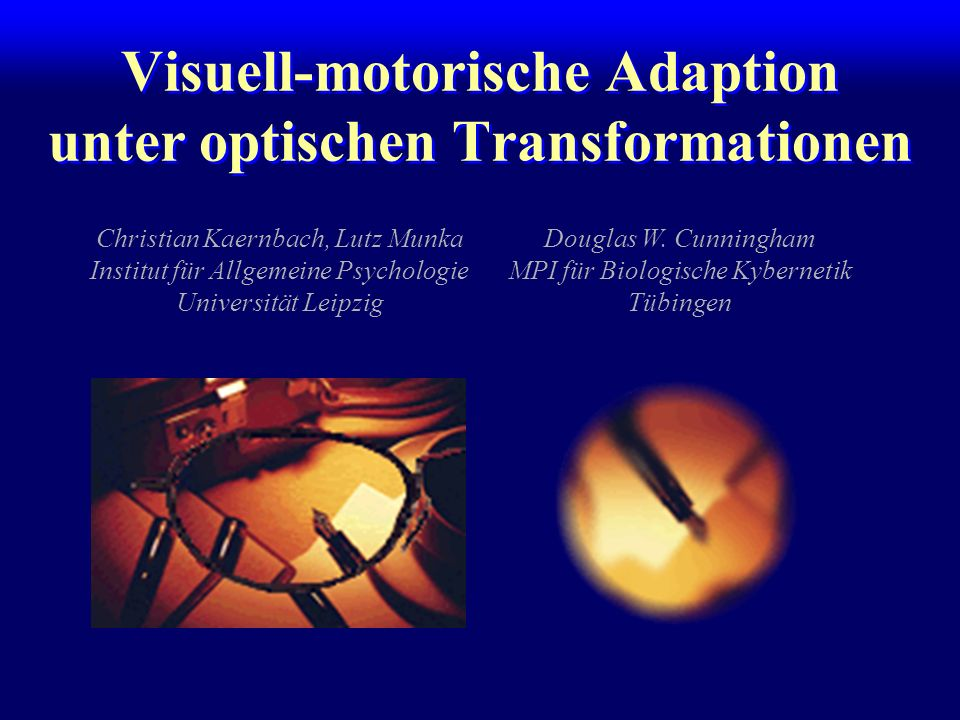 Visuell-motorische Adaption unter optischen Transformationen