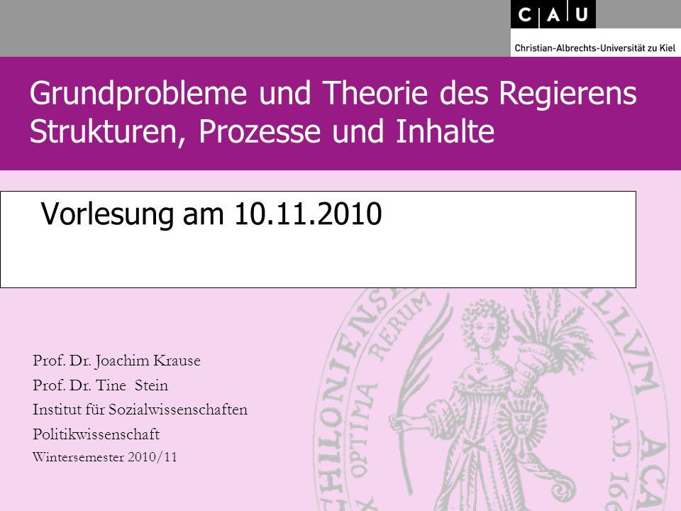 Vorlesung am 10.11.2010