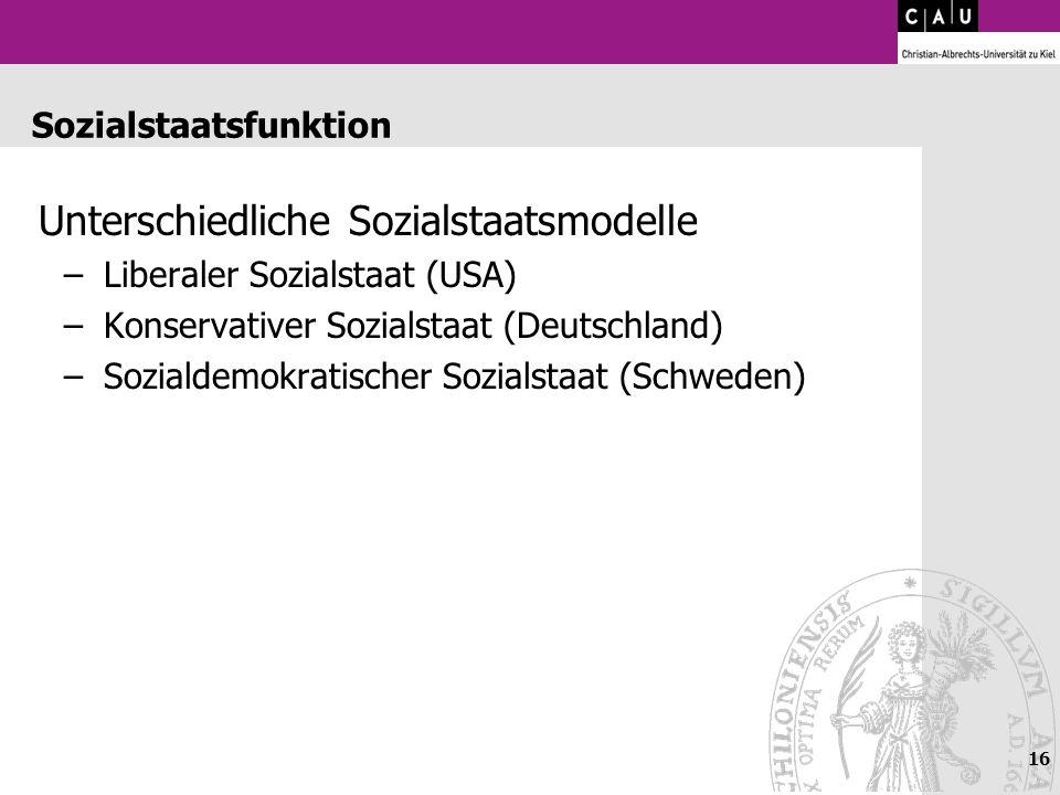 Sozialstaatsfunktion