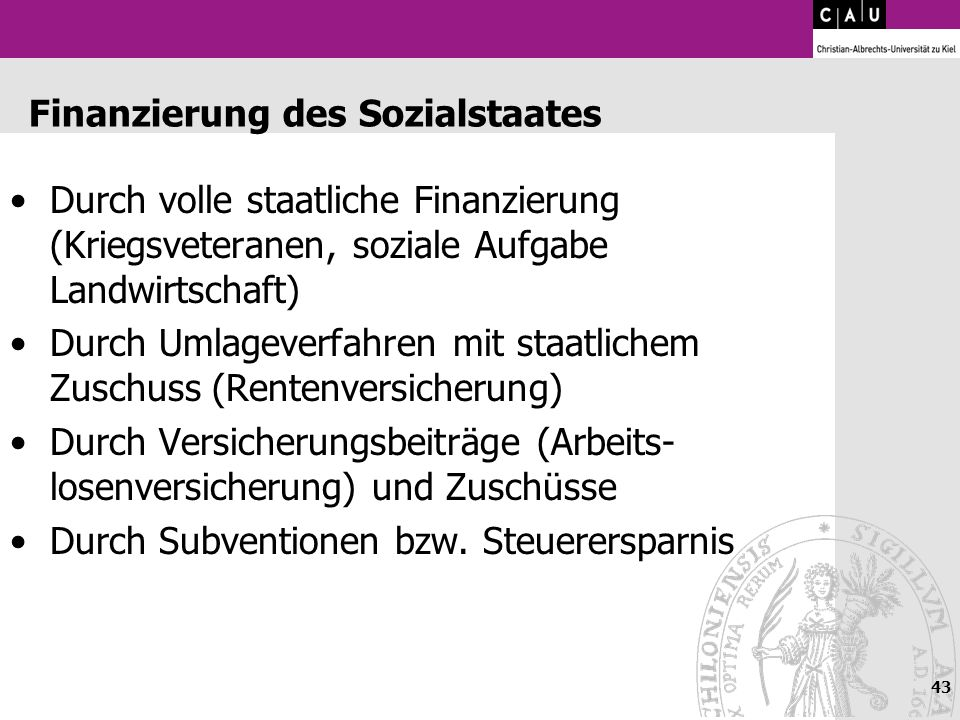 Finanzierung des Sozialstaates