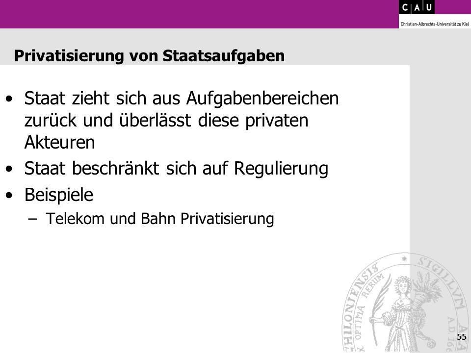 Privatisierung von Staatsaufgaben