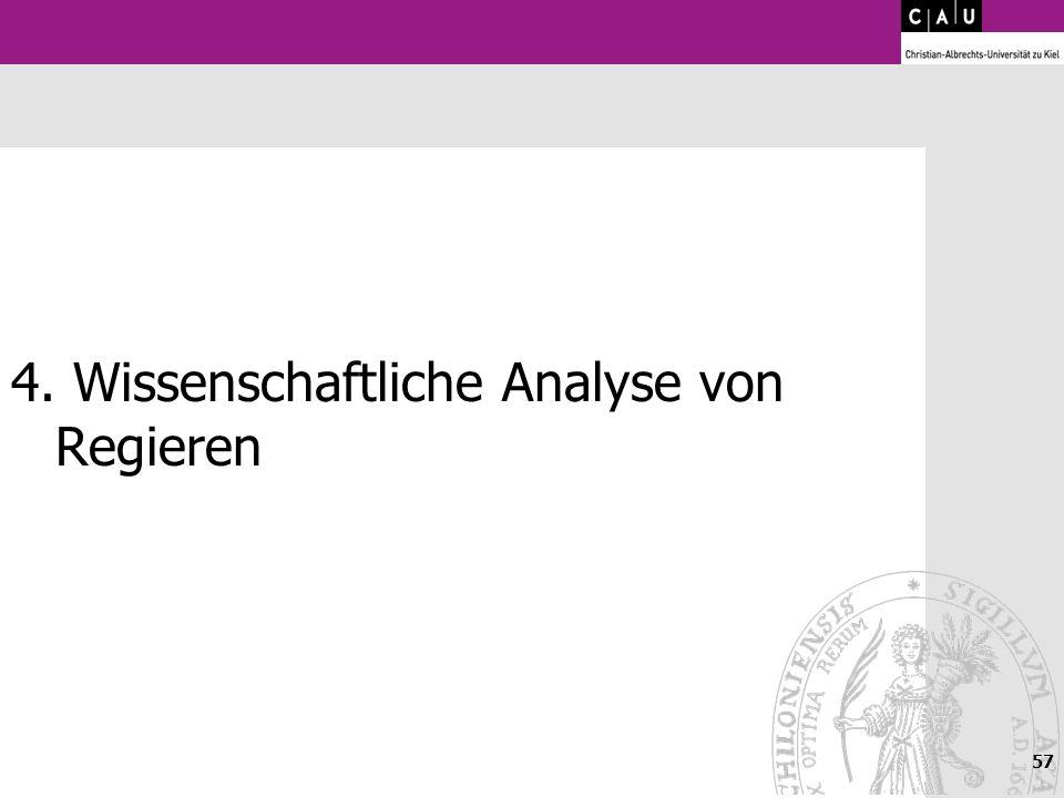 4. Wissenschaftliche Analyse von Regieren
