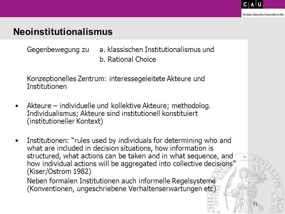 Neoinstitutionalismus
