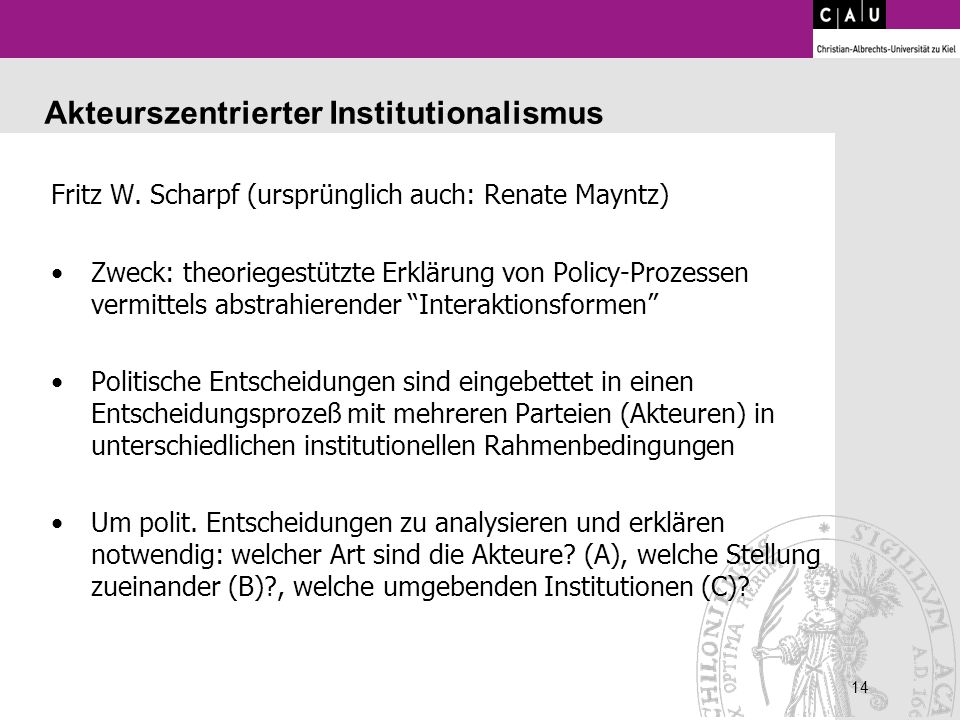 Akteurszentrierter Institutionalismus