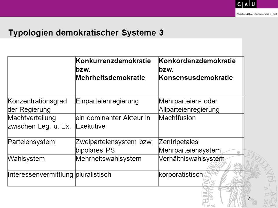 Typologien demokratischer Systeme 3