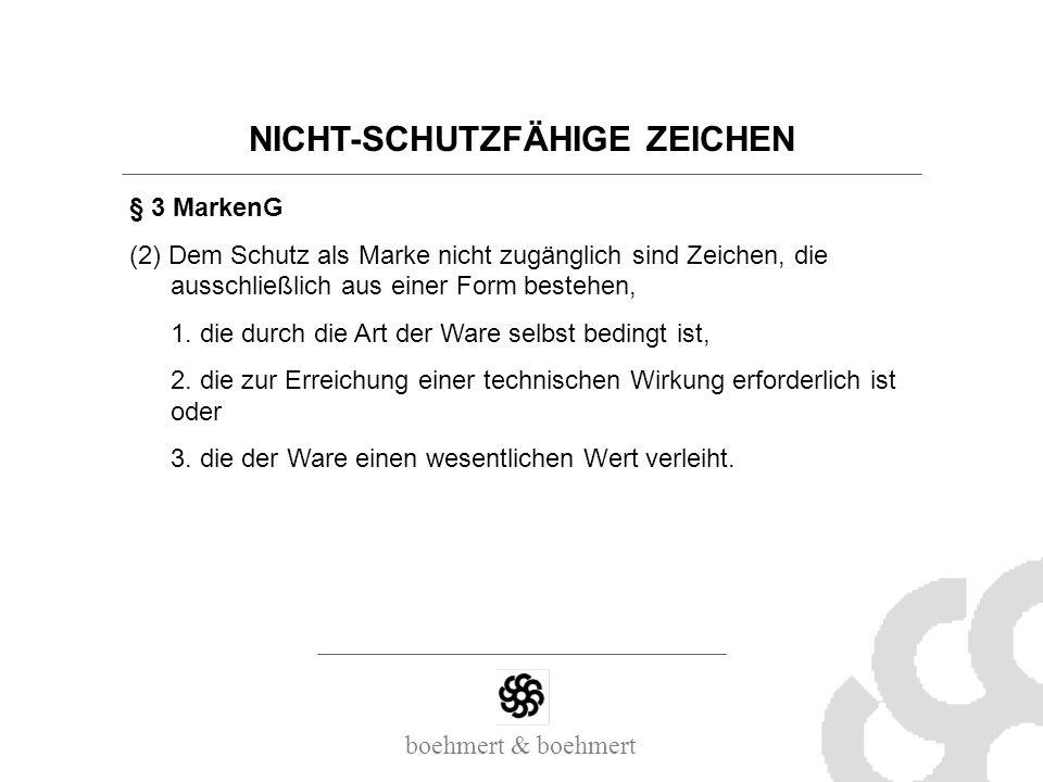 NICHT-SCHUTZFÄHIGE ZEICHEN
