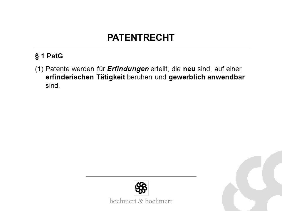 PATENTRECHT § 1 PatG.