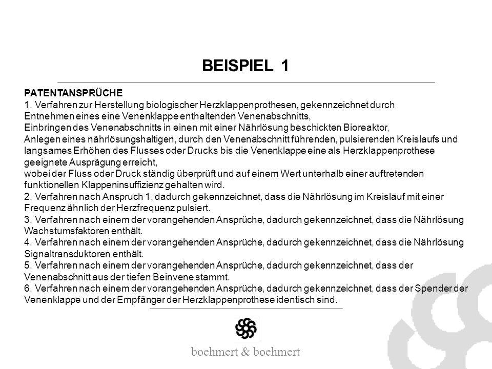 BEISPIEL 1 PATENTANSPRÜCHE