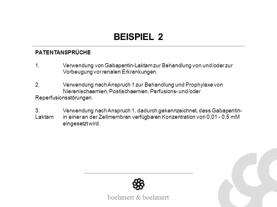BEISPIEL 2 PATENTANSPRÜCHE