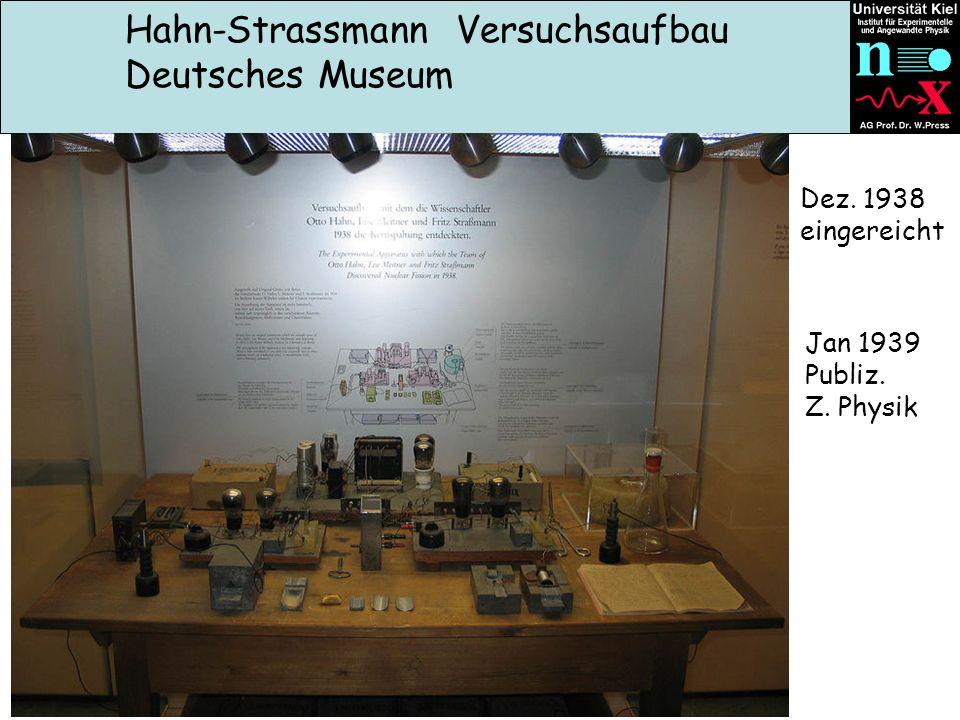 Hahn-Strassmann Versuchsaufbau Deutsches Museum