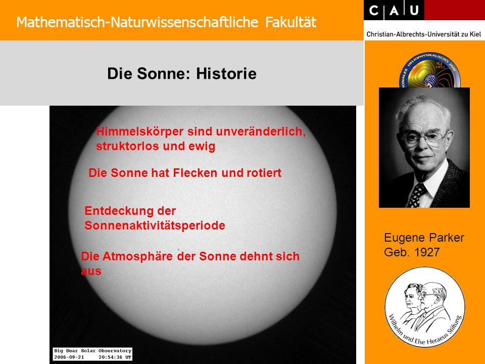Die Sonne: Historie Mathematisch-Naturwissenschaftliche Fakultät