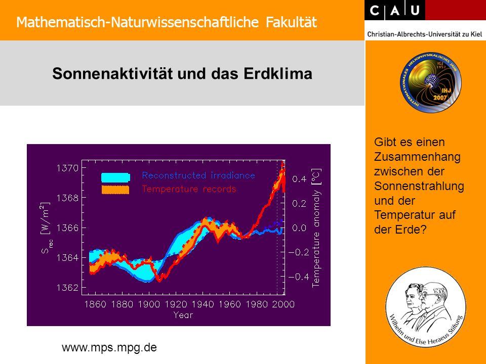 Sonnenaktivität und das Erdklima