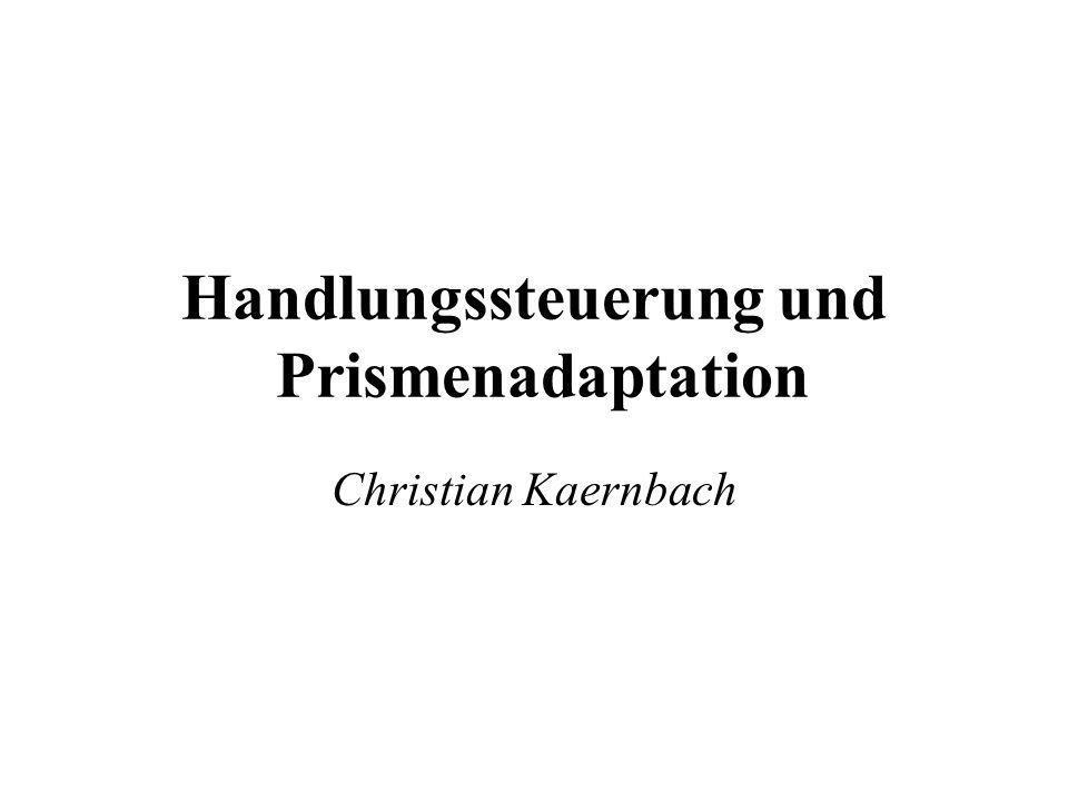 Handlungssteuerung und Prismenadaptation