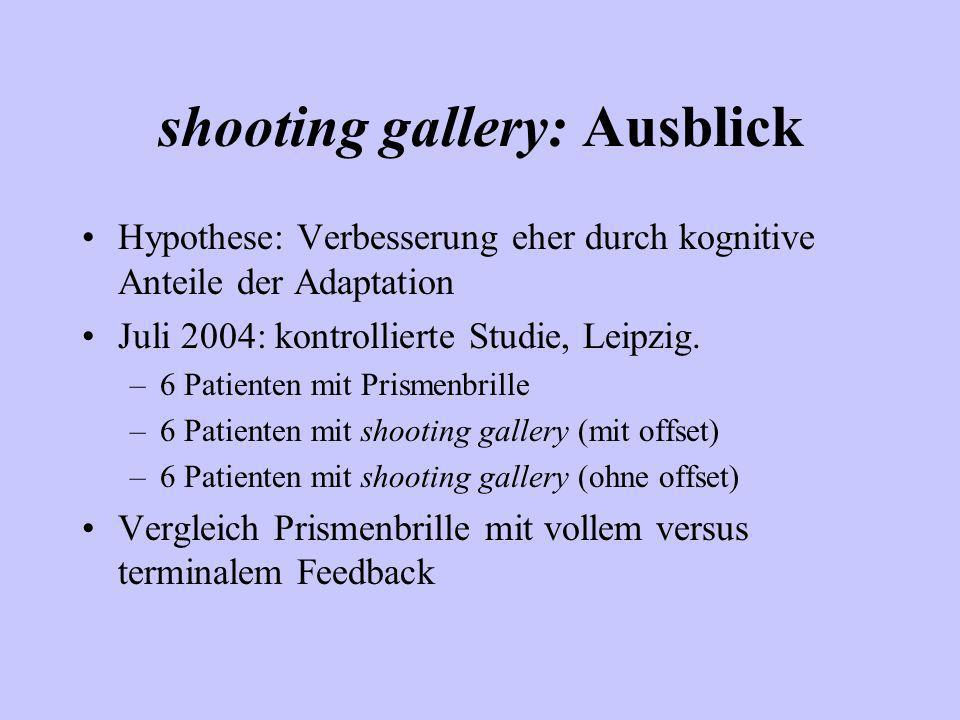 shooting gallery: Ausblick