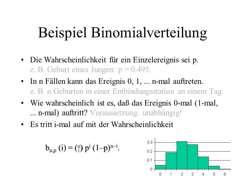 Beispiel Binomialverteilung