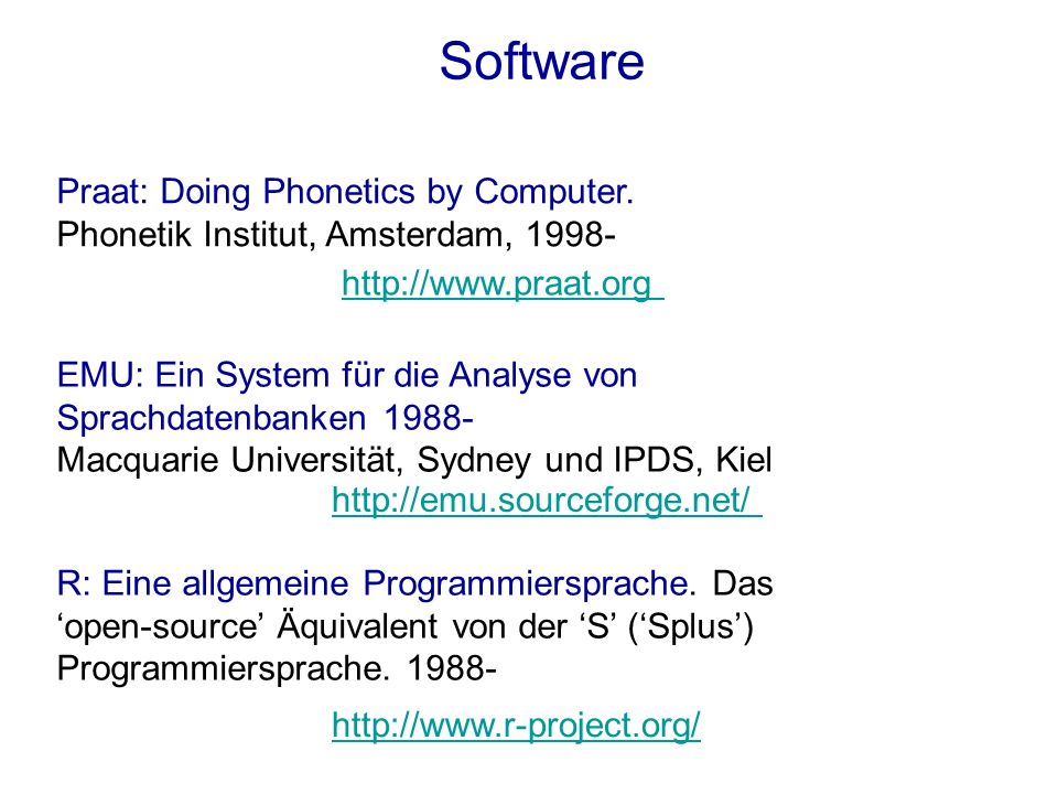 Software Praat: Doing Phonetics by Computer.
