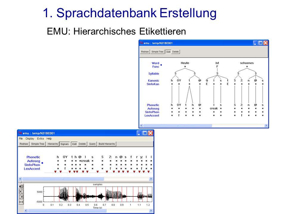 1. Sprachdatenbank Erstellung