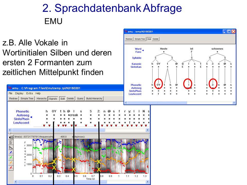 2. Sprachdatenbank Abfrage