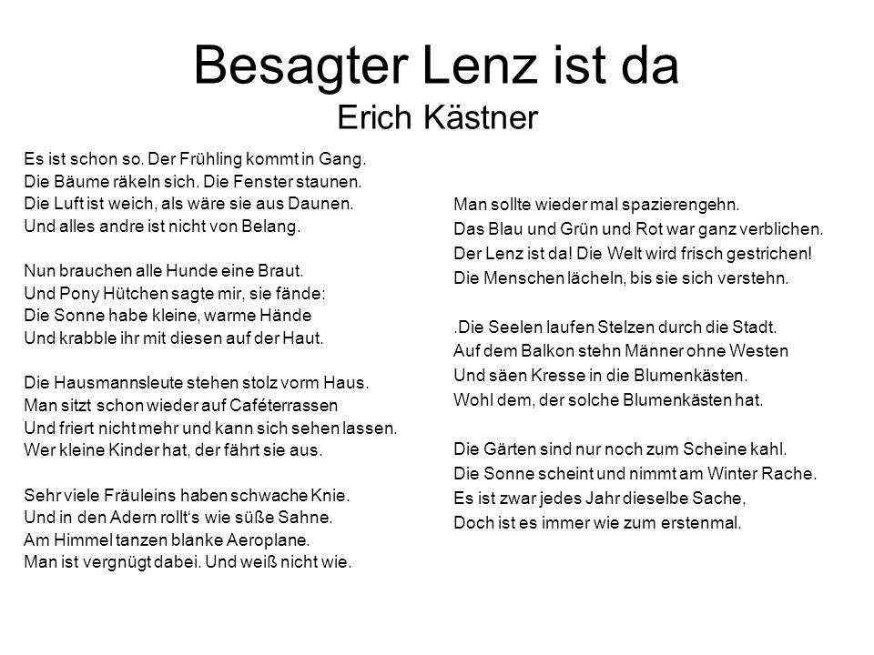 Besagter Lenz ist da Erich Kästner