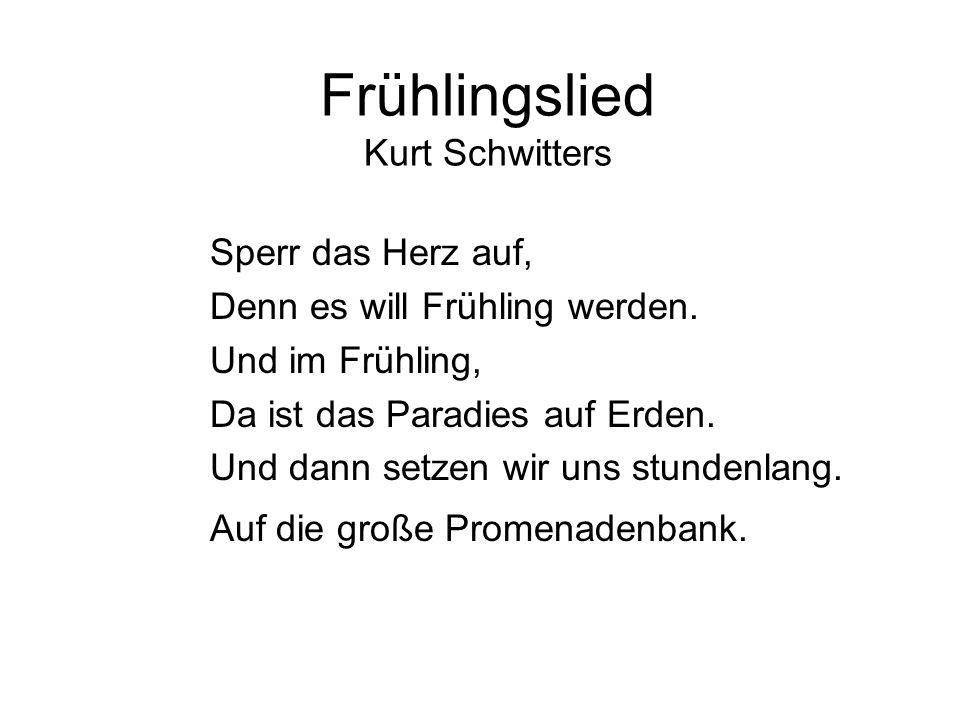 Frühlingslied Kurt Schwitters