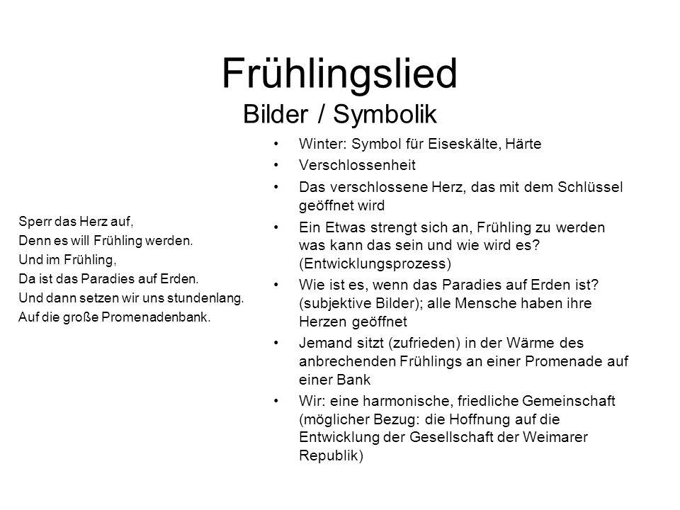 Frühlingslied Bilder / Symbolik