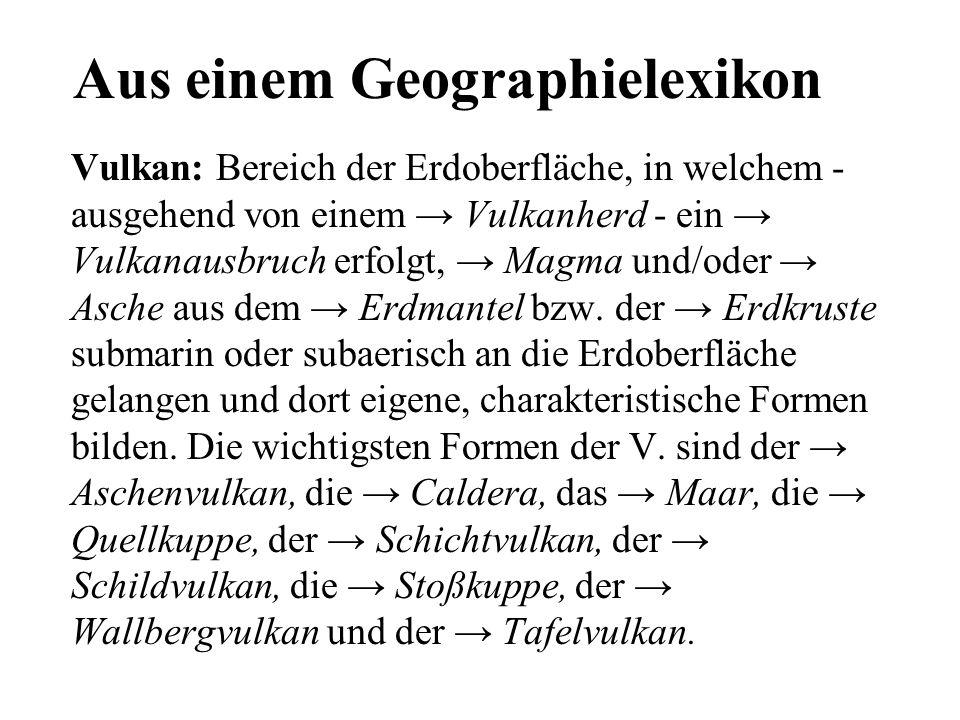 Aus einem Geographielexikon