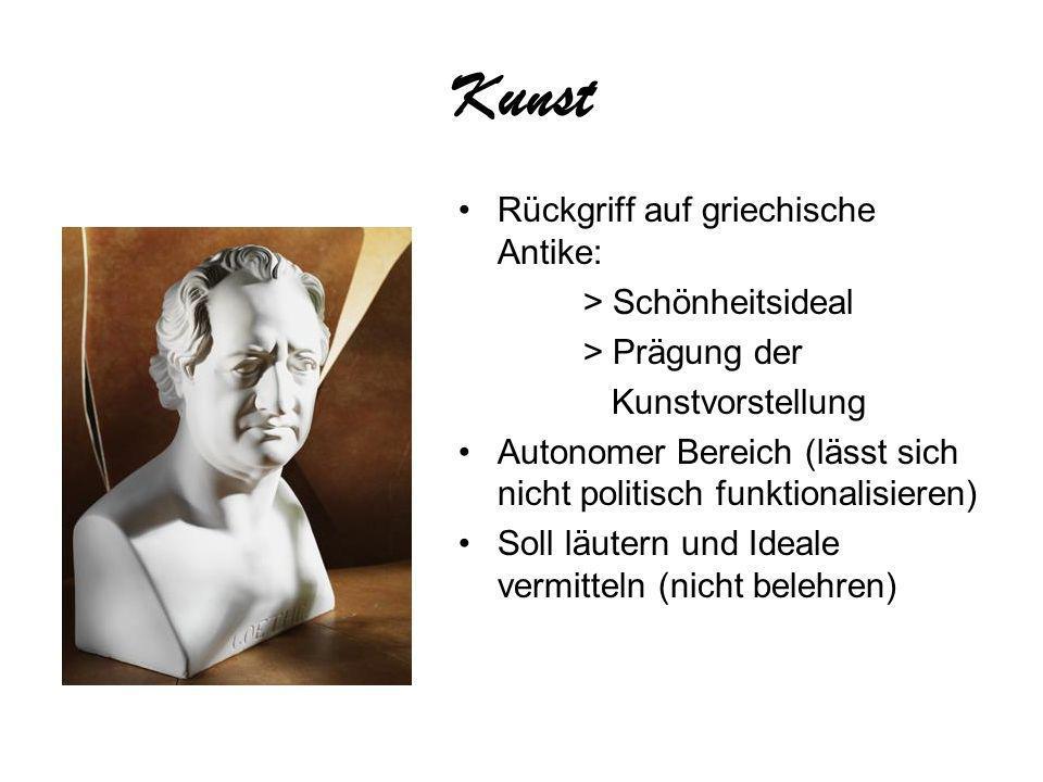 Kunst Rückgriff auf griechische Antike: > Schönheitsideal