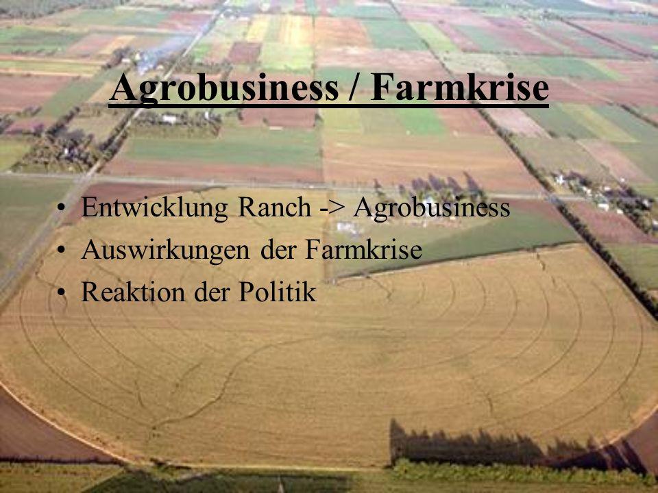 Agrobusiness / Farmkrise