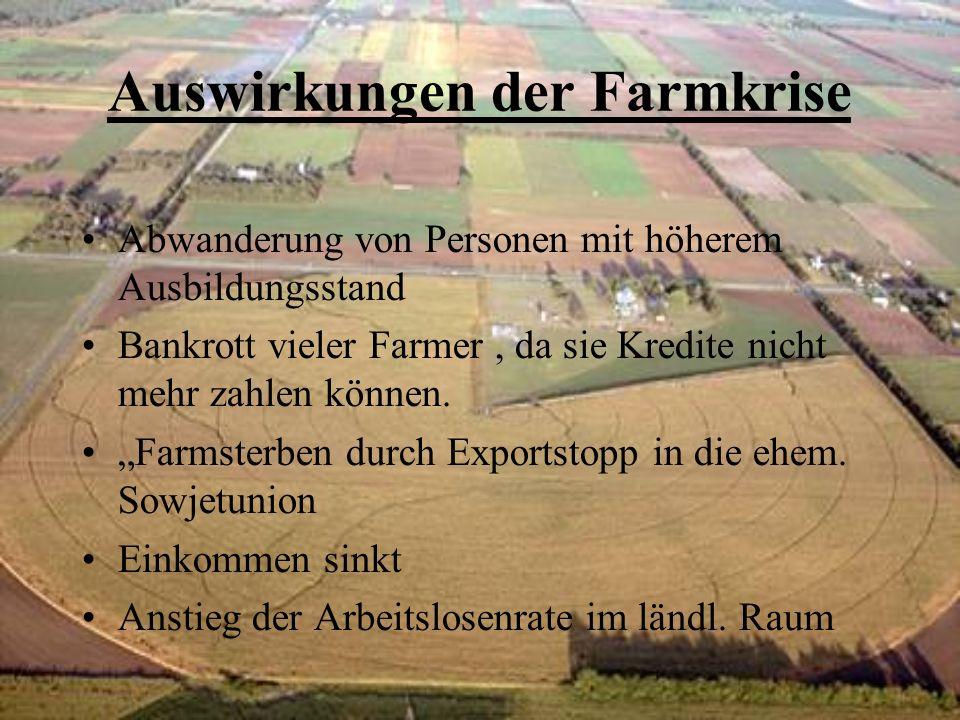 Auswirkungen der Farmkrise