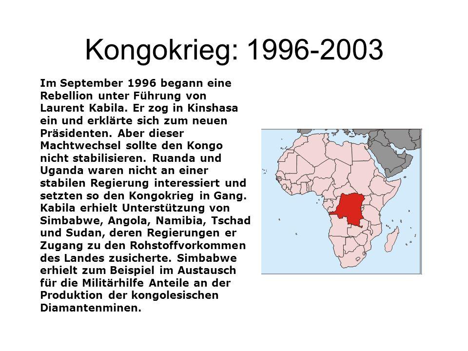 Kongokrieg: 1996-2003