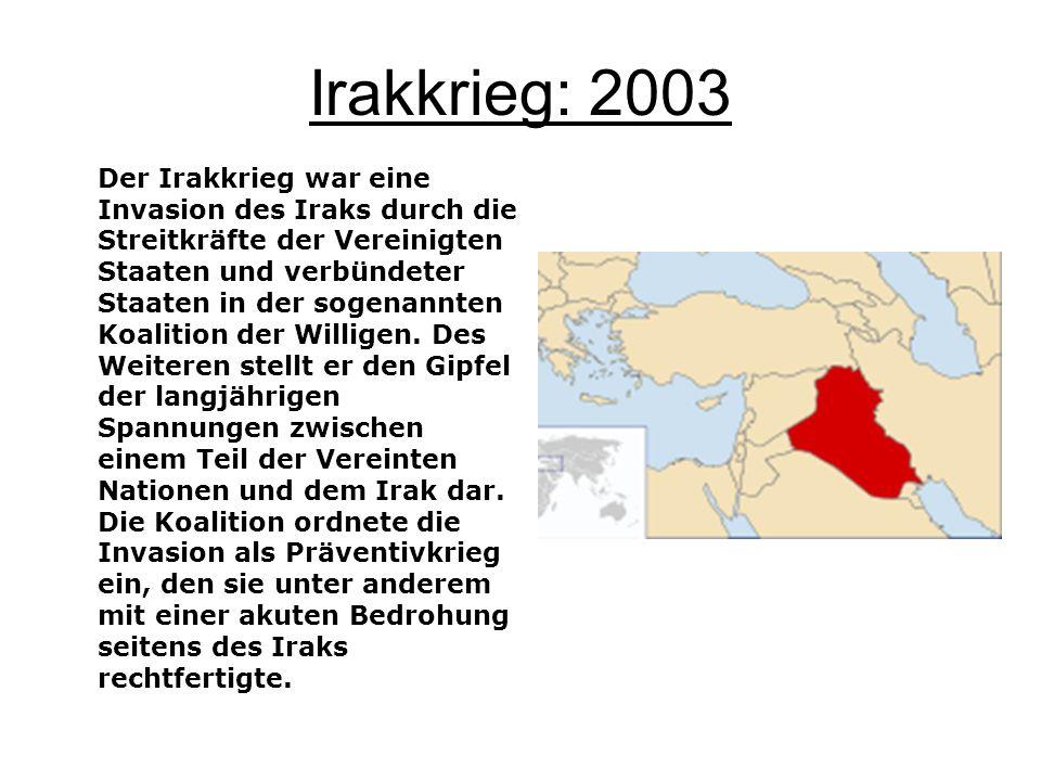 Irakkrieg: 2003