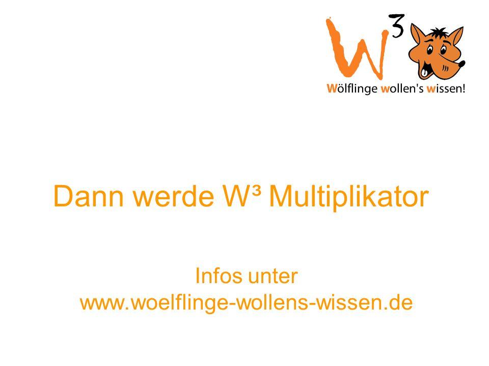 Dann werde W³ Multiplikator