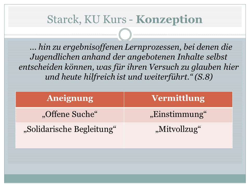 Starck, KU Kurs - Konzeption
