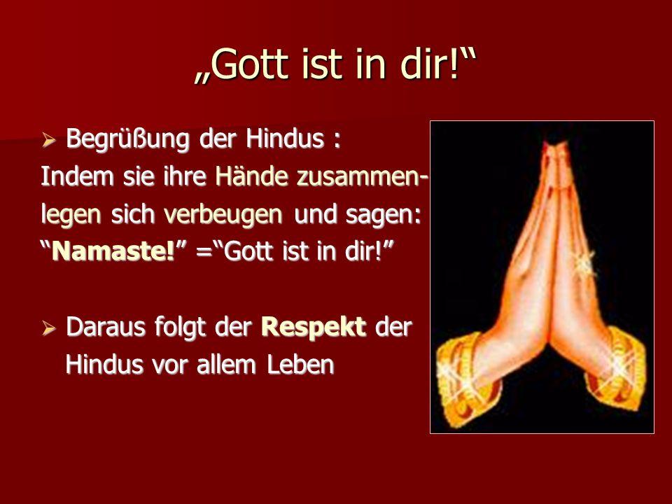 """""""Gott ist in dir! Begrüßung der Hindus :"""