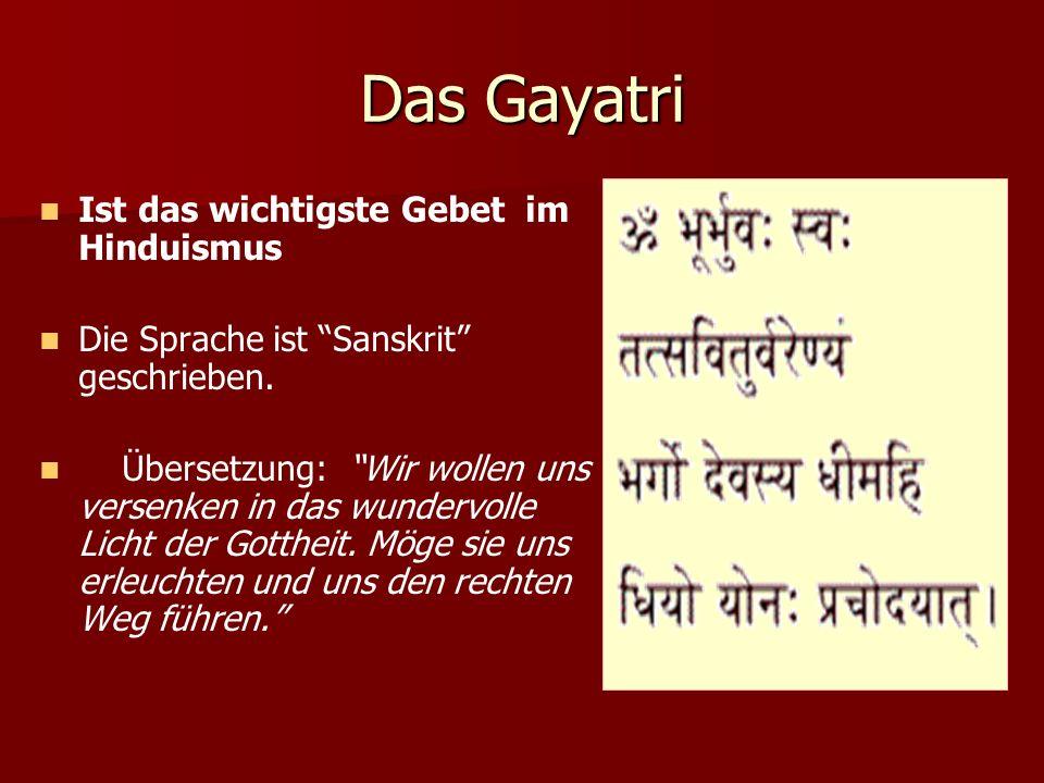 Das Gayatri Ist das wichtigste Gebet im Hinduismus