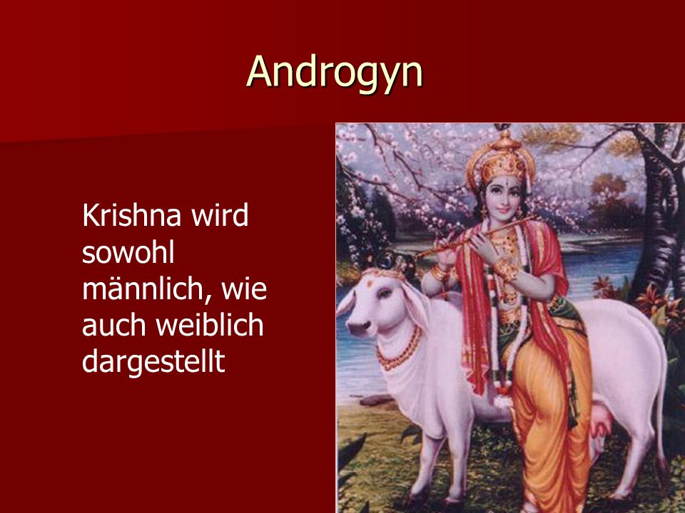 Androgyn . Krishna wird sowohl männlich, wie auch weiblich dargestellt