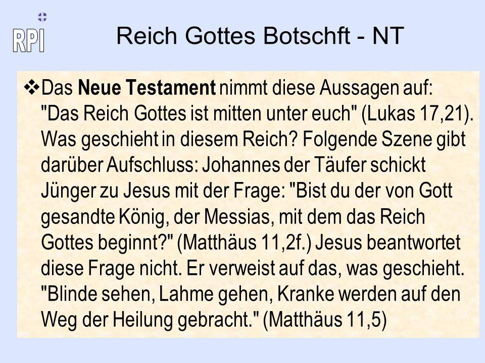 Reich Gottes Botschft - NT