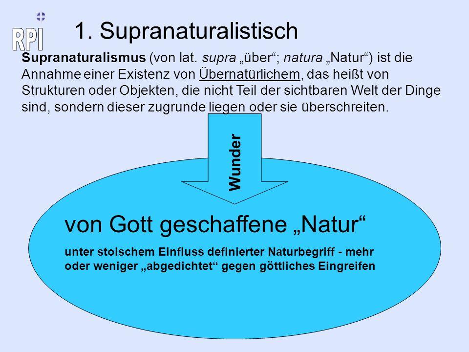 """von Gott geschaffene """"Natur"""
