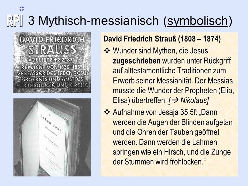 3 Mythisch-messianisch (symbolisch)